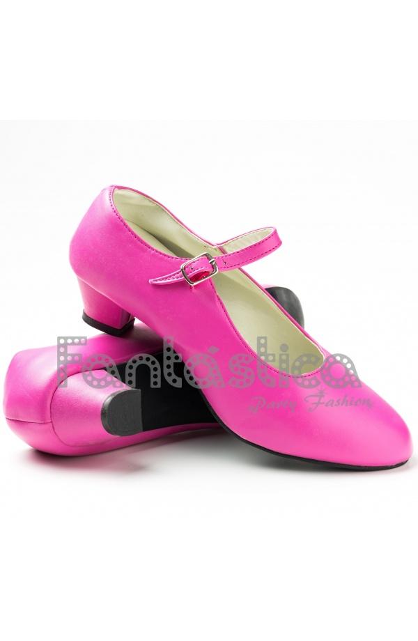 Zapatos para Flamenco Color Fucsia - Tallas para Niña y Mujer ...
