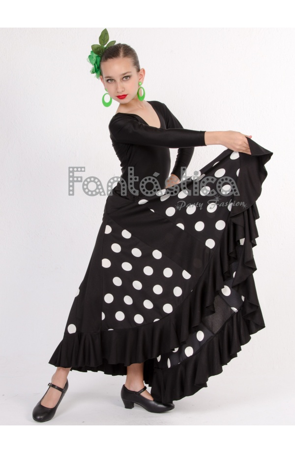 Flamenco And Sevillanas Skirt For Girl And Woman Black