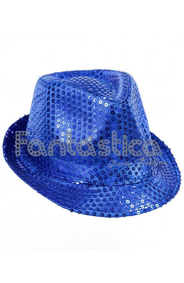 Sombrero de Fiesta para Disfraz con Lentejuelas Color Azul. Compartir en  Facebook ... a5d26a2c72c