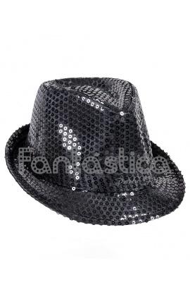 Sombrero de Fiesta para Disfraz con Lentejuelas Color Negro 4b22e612158