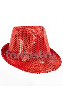 Sombrero de Fiesta para Disfraz con Lentejuelas Color Rojo fd34ef6eb0f
