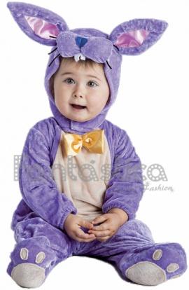 disfraz para beb conejito lila
