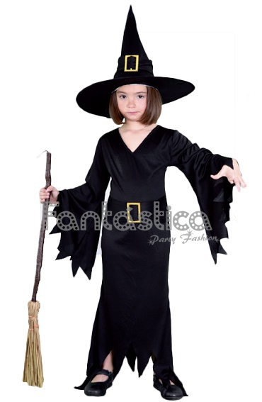 disfraz para nia bruja negra