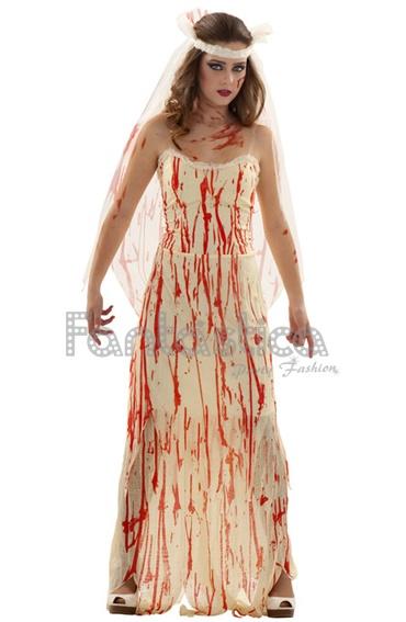 Mujer vestida de novia muerta