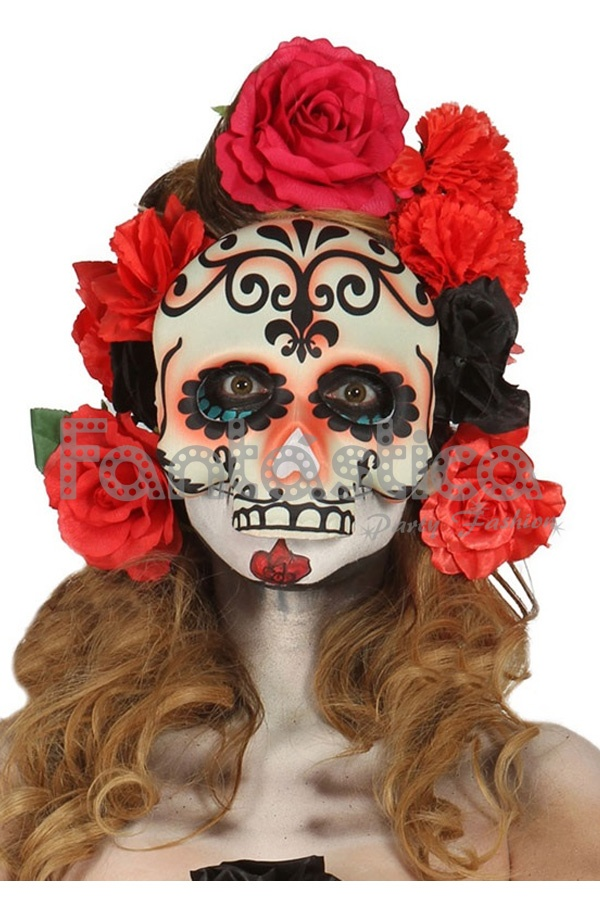 M scara careta catrina para disfraz de halloween for Caretas disfraces