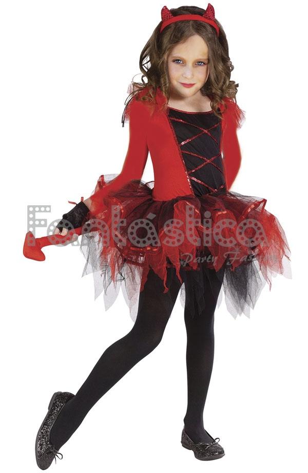 Disfraz para ni a diabla con tut ii tienda esfantastica - Como pintar a una nina de bruja para halloween ...