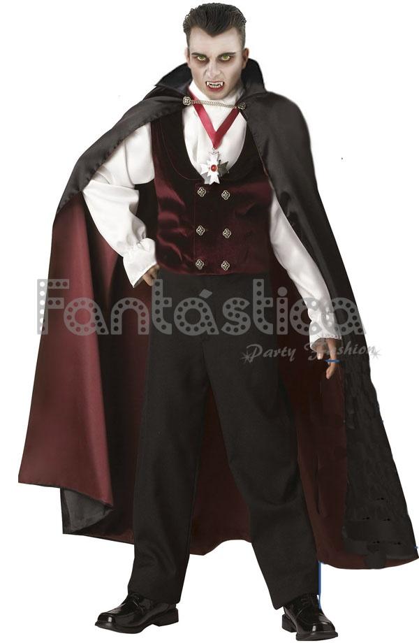 Disfraz para Hombre Vampiro Granate Tienda Esfantastica