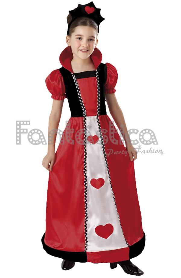 disfraz para niña reina de corazones - tienda esfantastica