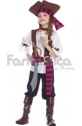 Disfraz de pirata para ni a disfraz de bucanera ni a - Maquillaje pirata nina ...