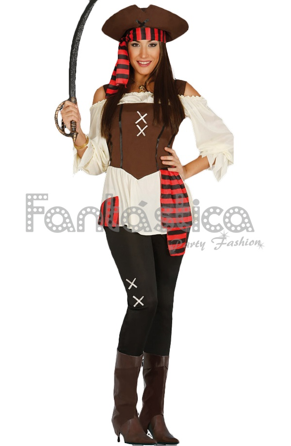 Disfraces Mujer Pirata Sexy Disfraces Baratos Carnaval Despedida - Maquillaje-de-pirata-para-mujer