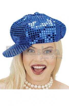 Gorra Lentejuelas Azul para Disfraz dbfc58dd369