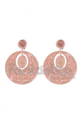 pendientes flamenca rosa palo