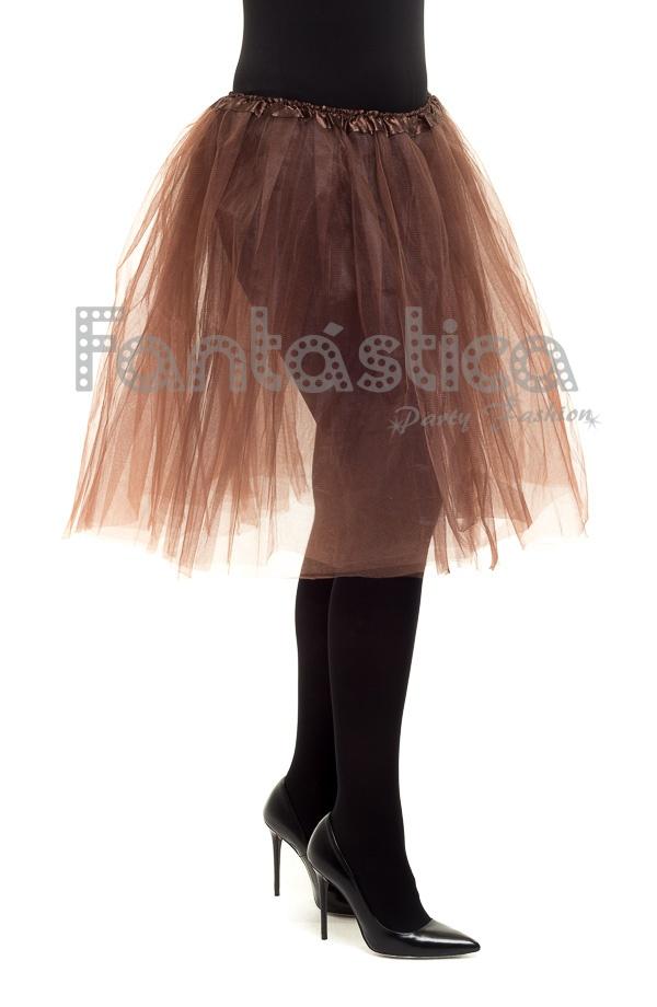 f84a1833f9 Tutú para Ballet y Danza - Falda de Tul Larga para Mujer Color Marrón.  Compartir en Facebook ...