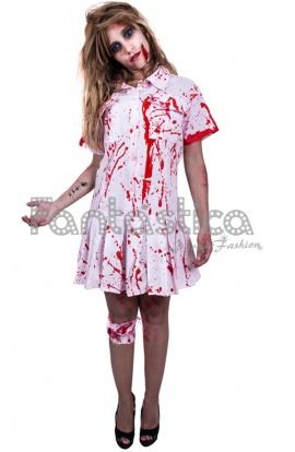 disfraz para mujer enfermera zombie
