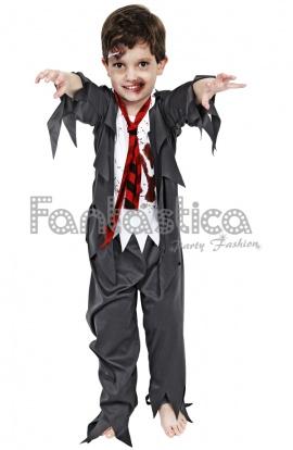 disfraz para nio colegial zombie