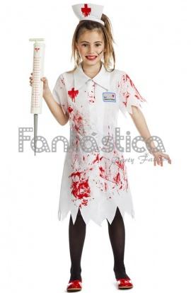disfraz para nia enfermera zombie iv