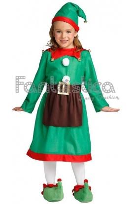 disfraz para beb y nia elfa navidea iv