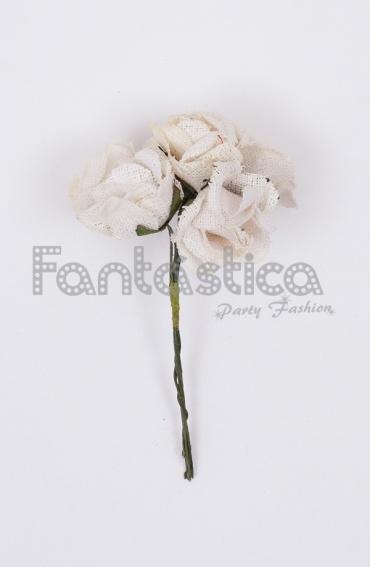 Ramillete de flores para el pelo modelo grazalema color - Color blanco roto ...