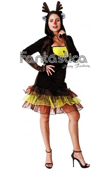 Disfraz Para Mujer Reno De Navidad Tienda Esfantastica - Disfraz-reno
