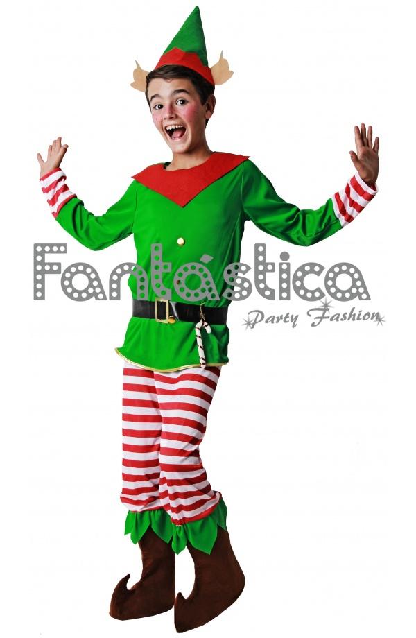 Disfraz para ni o duende elfo navide o iv tienda - Disfraz nino navidad ...