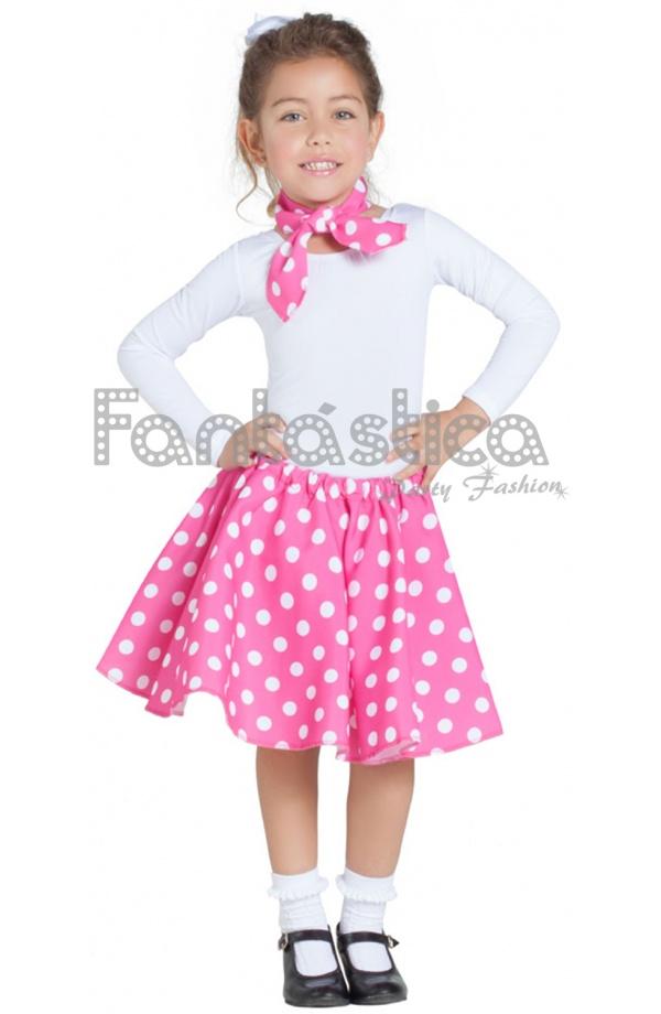 Disfraz para Niña Falda y Pañuelo Rosa Fucsia años 50. Compartir en  Facebook ... 0be33174f12