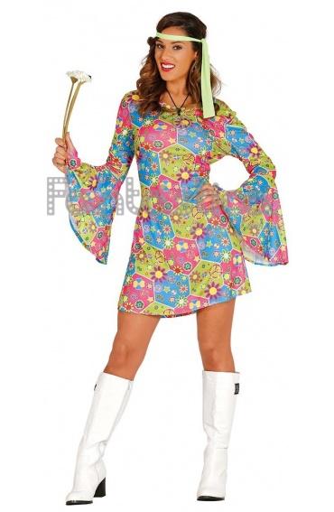 Disfraz para Mujer Hippie Flower Power II