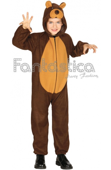 Disfraz para Niño y Niña Oso con Capucha