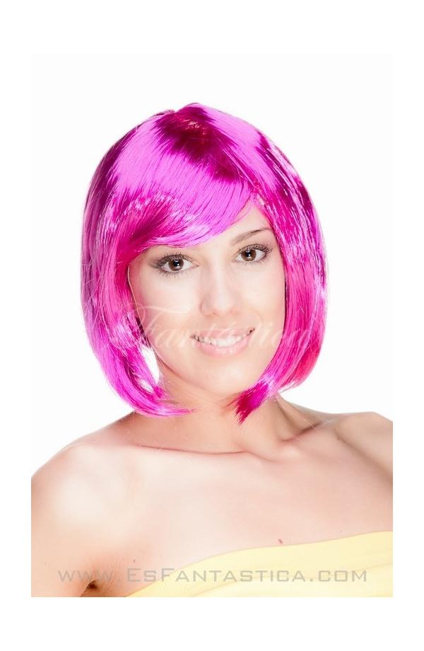 Peluca para Disfraz Corta Lisa en color Morado Violeta - Tienda ...