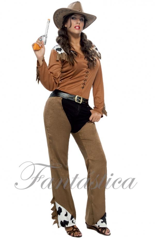 Guapísimo y divertido Disfraz para Mujer de Vaquera 1f2698625ef