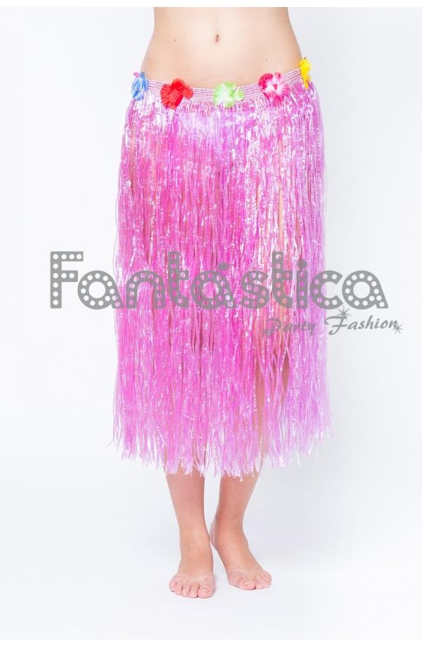 98e2918392 Falda Larga Hawaiana para Niña o Mujer - Falda Hawaiana Rosa Fucsia