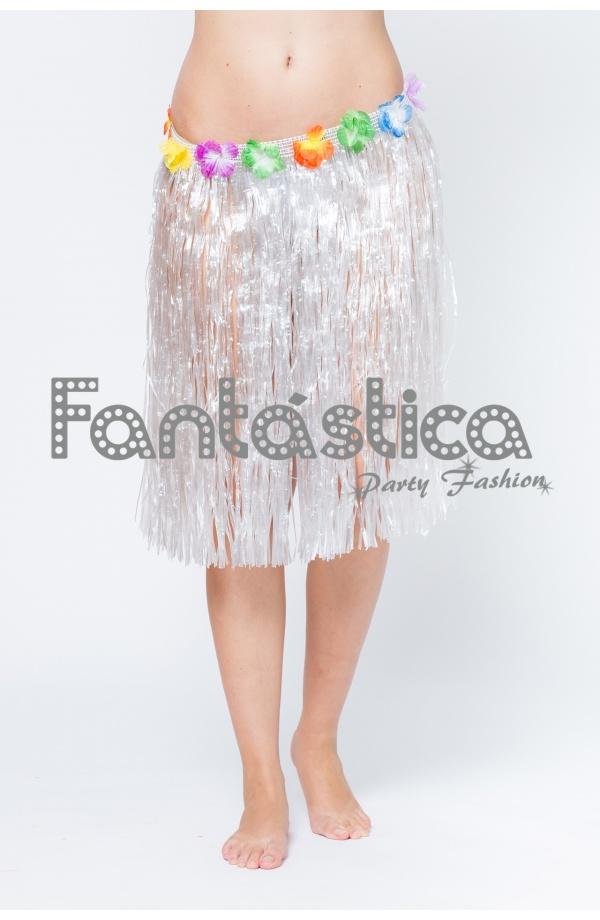 9bf81f0baf Falda Hawaiana para Niña o Mujer - Falda Hawaiana Blanca II