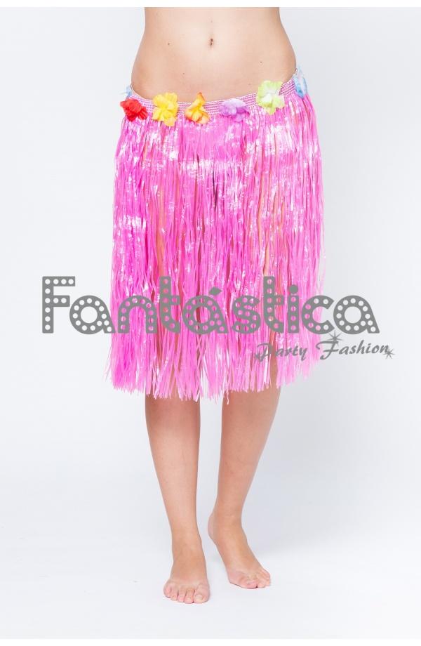 07c2a7cf9d Falda Hawaiana para Niña o Mujer - Falda Hawaiana Rosa Fucsia II