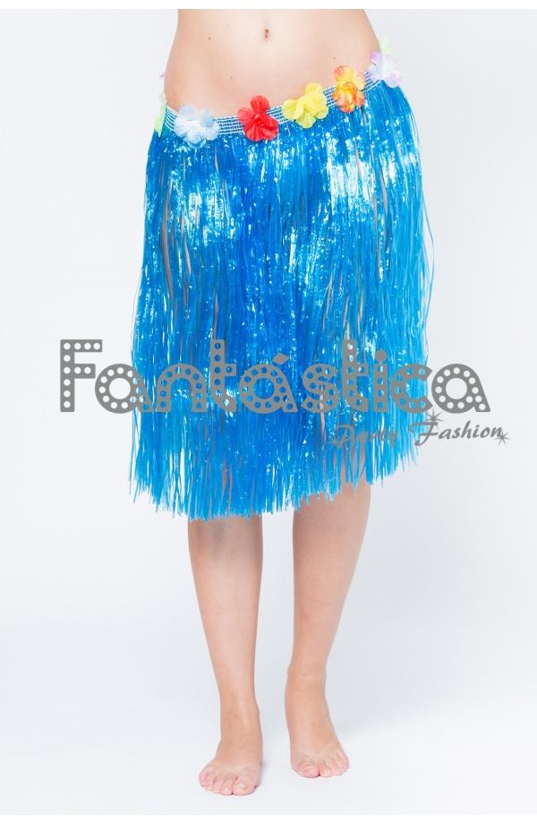 e9951a2045 Falda Hawaiana para Niña o Mujer - Falda Hawaiana Azul Turquesa II
