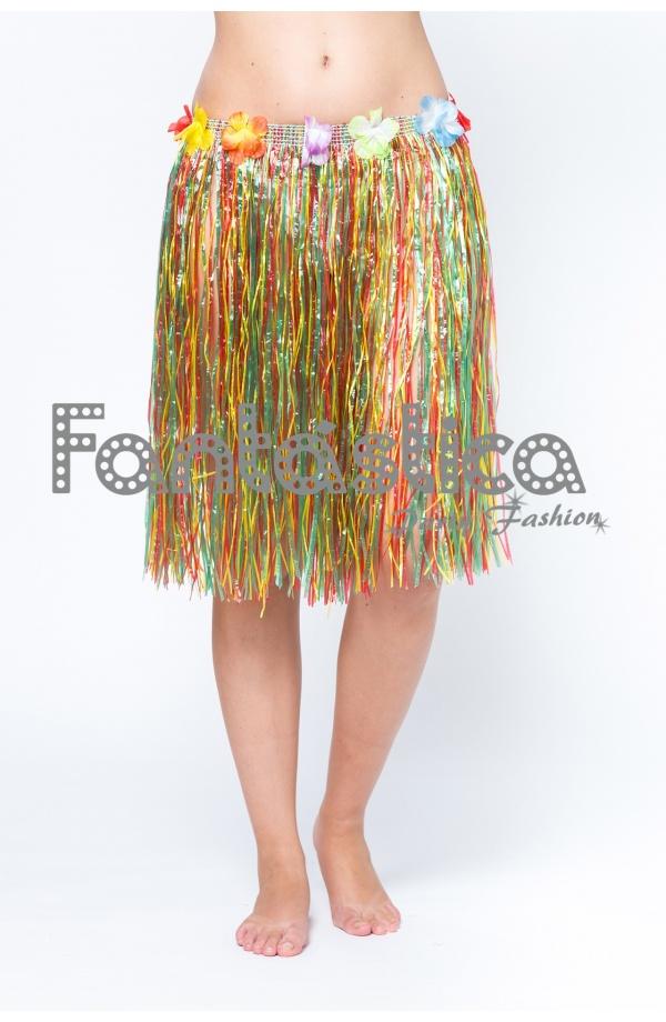 eef146dee4 Falda Hawaiana para Niña y Mujer modelo multicolor. Falda Hawaiana ideal  para disfraces