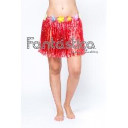 c0a1922e6 Minifalda Hawaiana para Niña o Mujer - Falda mini Hawaiana Rojo III