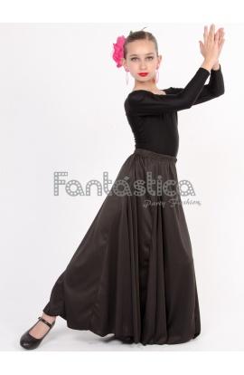 bca48d433 Falda de Flamenca / Sevillana para Niña y Mujer Color Negro Lisa