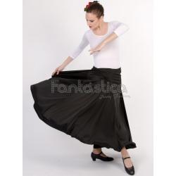 f4ede61fc Falda de Flamenca / Sevillana para Niña y Mujer Color Negro Lisa
