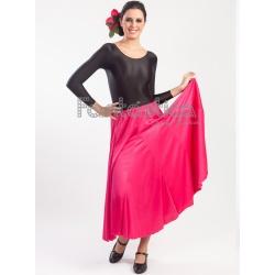 6d3394ade Falda de Flamenca / Sevillana para Niña y Mujer Color Fucsia Lisa