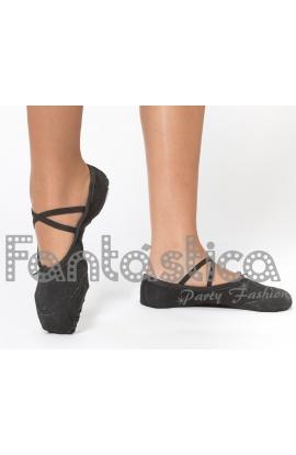 5eb9d8926 Zapatillas ajustables para Ballet, Danza y Gimnasia Color Negro - Tallas  para Niña y Mujer