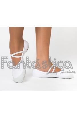 Zapatillas Danza Ballet Xsxq5wa Ajustables Para Color Y Gimnasia Blanco EH29WDI