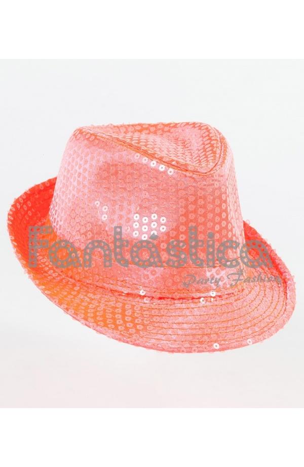 3a09bce1ea6fe Sombrero de Fiesta para Disfraz con Lentejuelas Color Coral