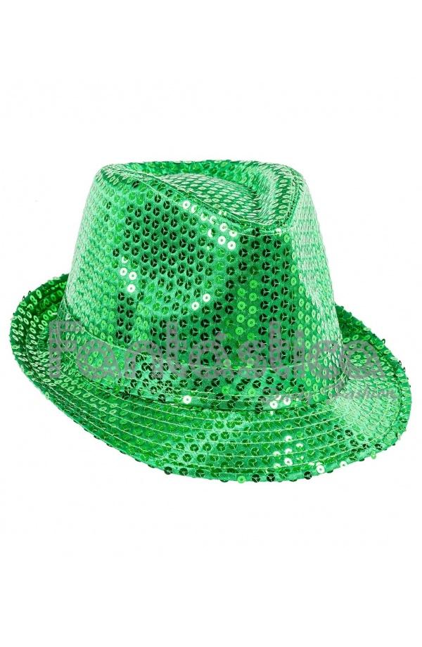 Sombrero de Fiesta para Disfraz con Lentejuelas Color Verde 1b8e0e9ebb3