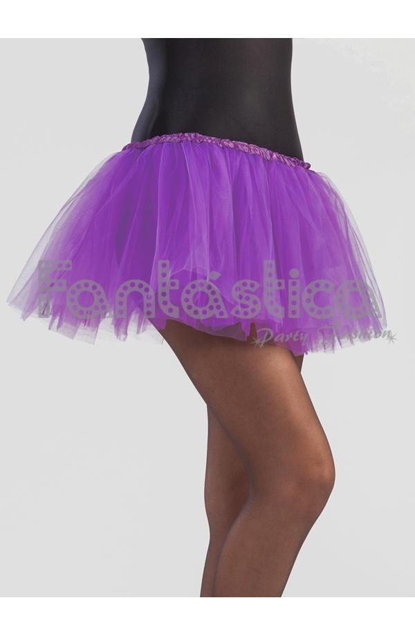 6f2154c7f Tutú para Ballet y Danza - Falda de Tul para Niña y Mujer Color Lila Morado