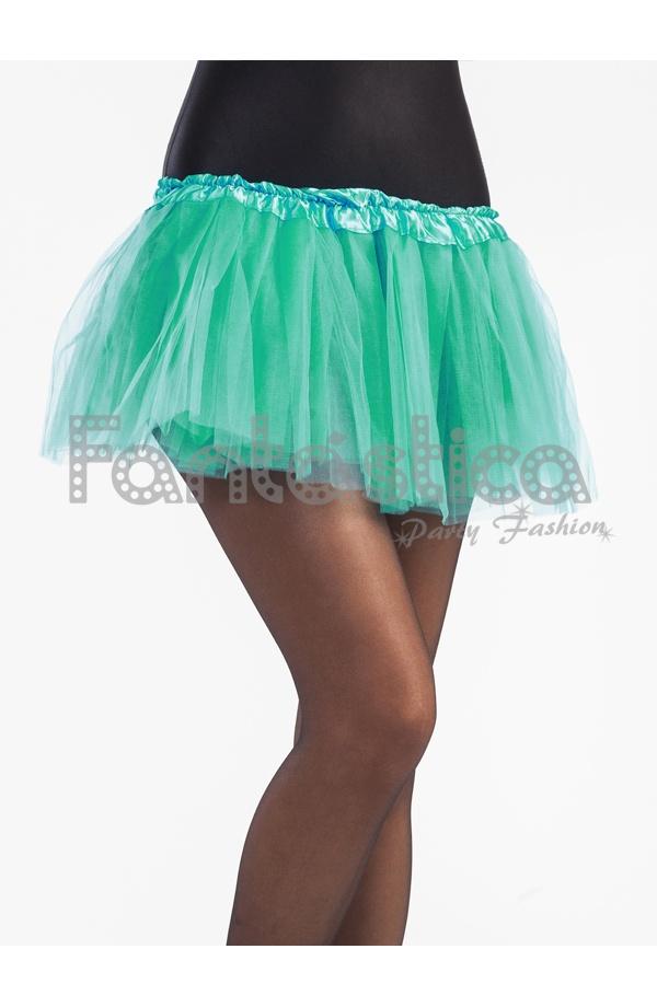 42f240222 Tutú para Ballet y Danza - Falda de Tul para Niña y Mujer Color Verde Agua