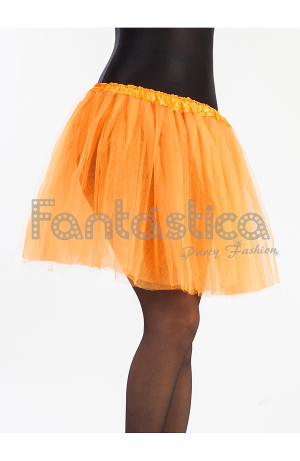 e84bb38da2 Tutú para Ballet y Danza Naranja. Falda Tutú de tul color naranja para niña  o mujer