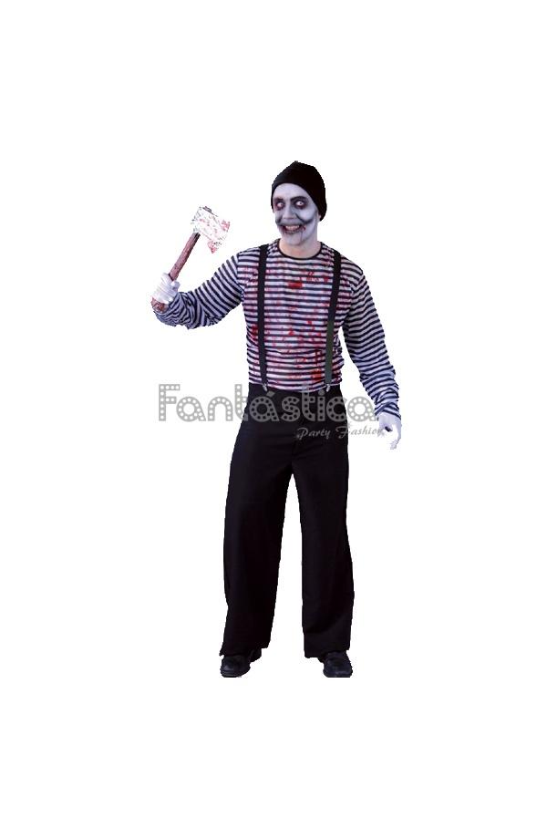 carnevaleHalloweenfesteggiamenti per assassino Costume buffo terrificante Mimoperfetto sdegnato e costumisingolo sinistro uomo di qR3A4jL5
