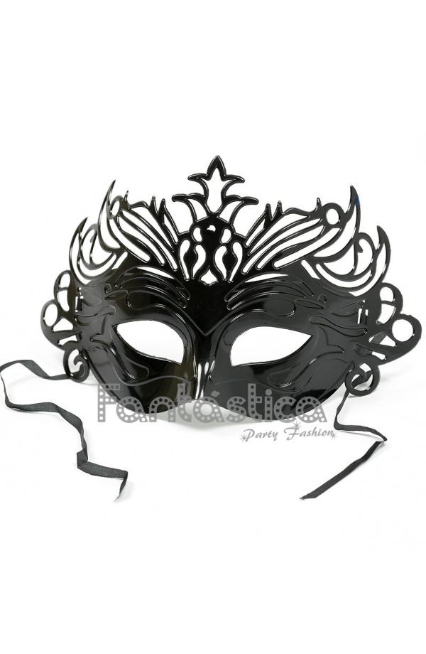 Antifaz Máscara Veneciana para Carnaval Color Negro a6553eef680