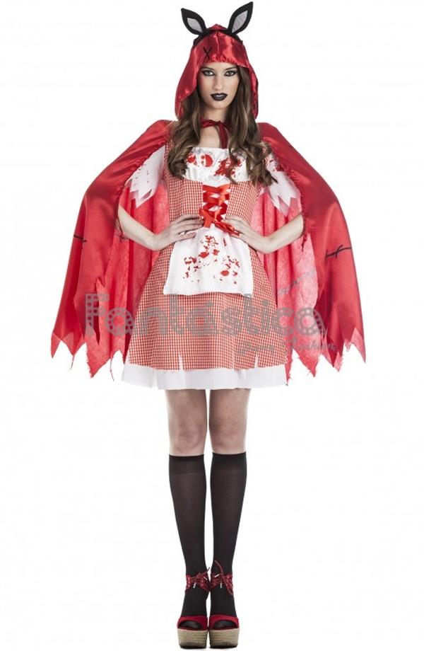Espeluznantemente chulo disfraz de Caperucita Roja Poseida que incluye  vestido 4b462d161bf6