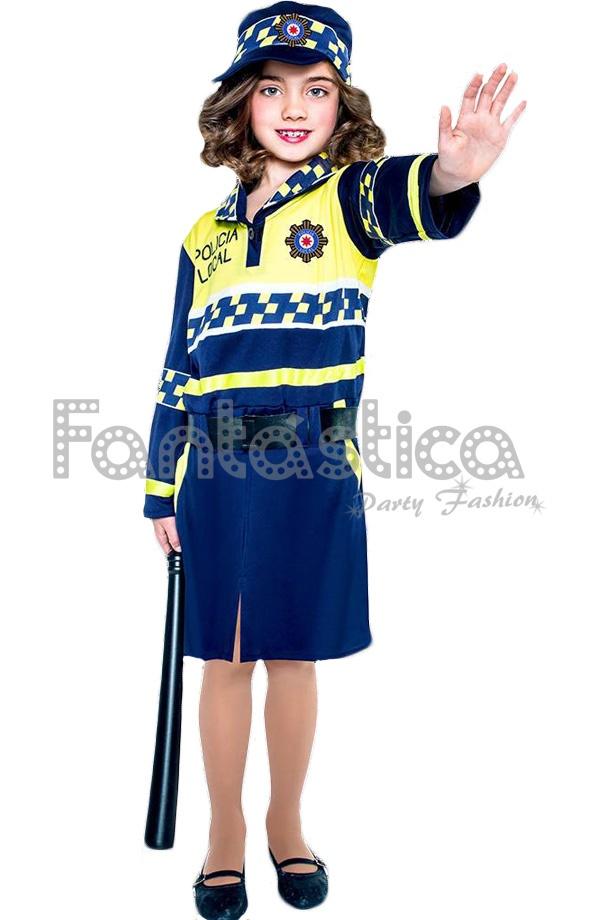 2edbaefff Disfraz para Niña Policía Local