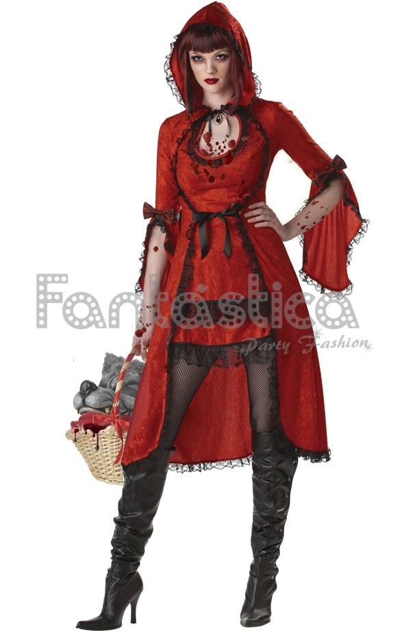 Disfraces Para Halloween De Caperucita Roja.Disfraz Para Mujer Caperucita Roja Siniestra